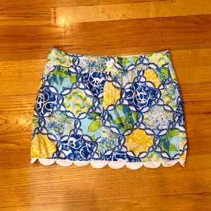 Lilly Pulitzer gold skirt with built in skort
